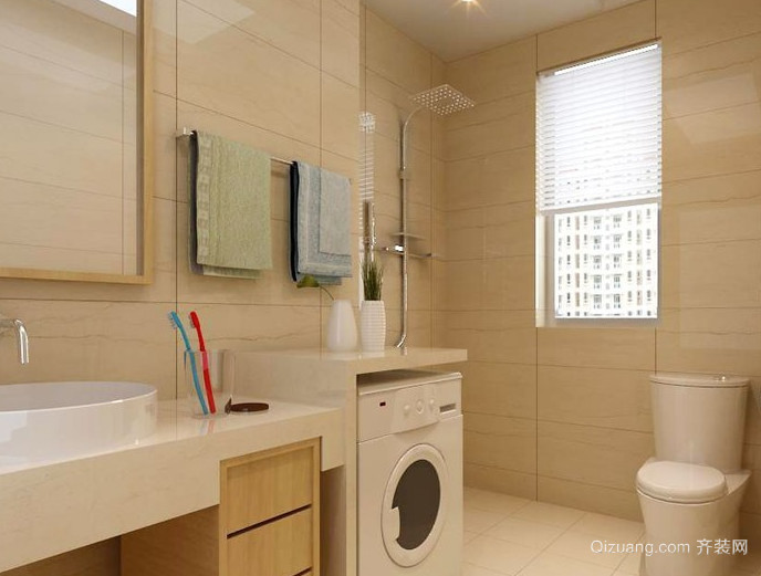 2016大户型精致的两室两厅欧式卫生间装修效果图