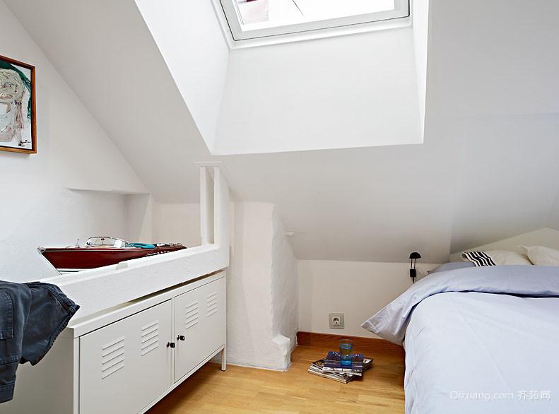 北欧风格18平米阁楼卧室装修效果图大全