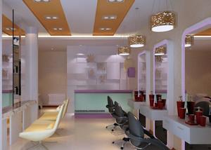 30平米都市现代小理发店装修图