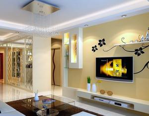 120平米大户型欧式家庭客厅电视背景墙装修效果图