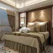 现代美式田园风格23平米卧室装修效果图