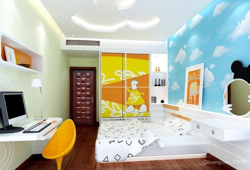 70平米欧式小户型家装儿童房装修效果图鉴赏