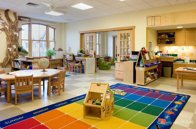 温馨幼儿园小班教室装修设计效果图