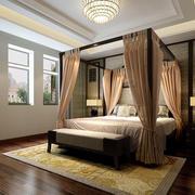 中式卧室床幔展示