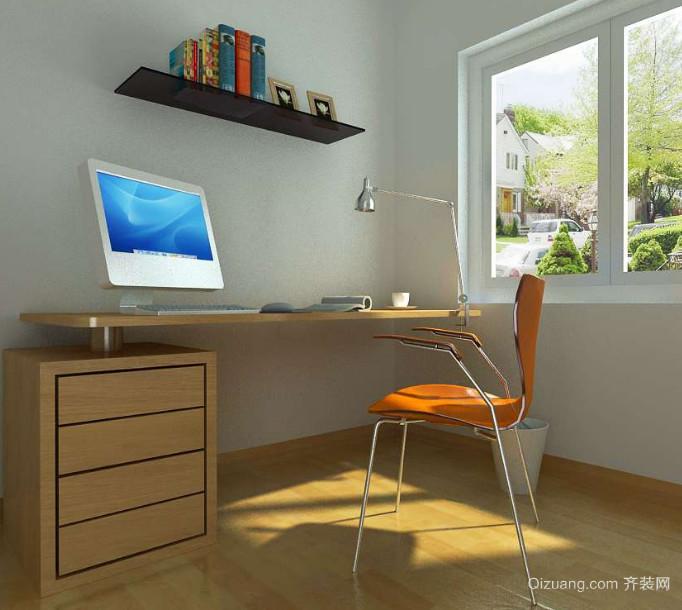 21世纪精致的现代小户型书房装修效果图实例