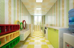 都市幼儿园彩色卫生间装修设计效果图