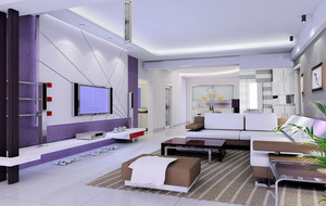 浅紫色时尚客厅展示