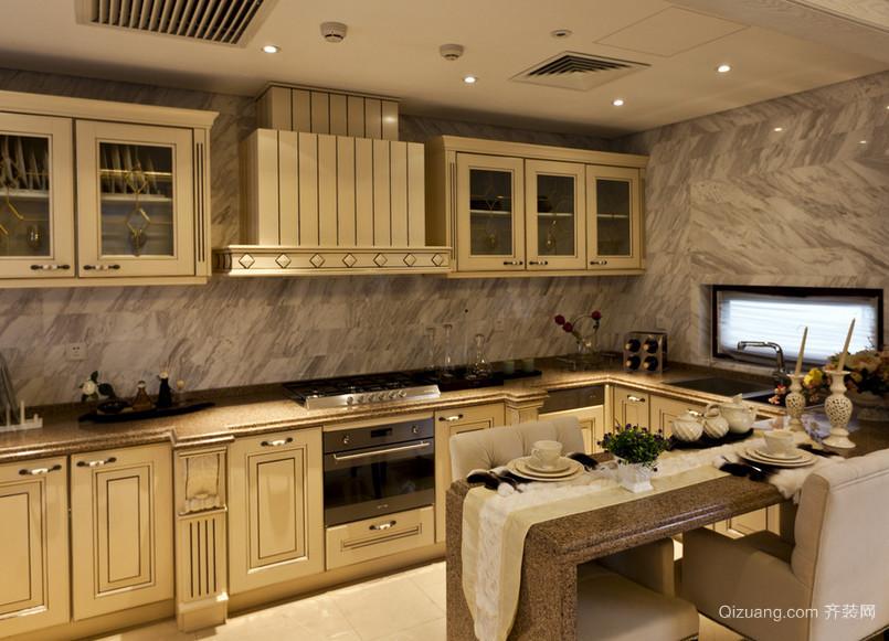120平米大户型欧式现代家庭厨房装修效果图