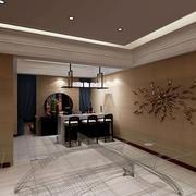 中式艺术型墙面装饰