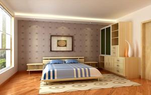 卧室简约床头壁纸