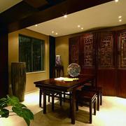 中式风格原木书房