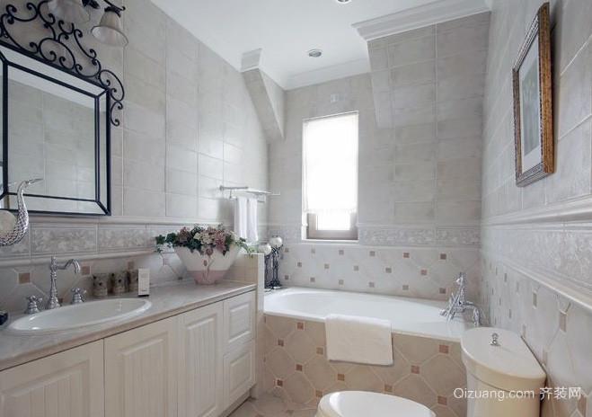 欧式洗手间装修效果图-公共卫生间的唯美图片