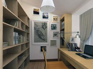 70平米小户型精致的现代书房吊顶装修效果图