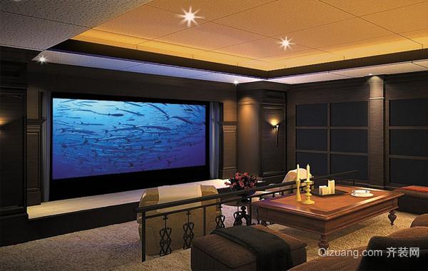 私人大别墅现代家庭影院设计装修效果图