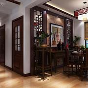 中式餐厅背景墙展示