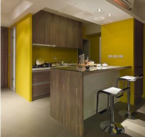 宜家风格原木色开放式厨房家具效果图