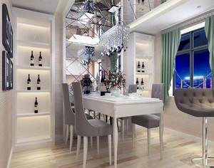 2016大户型简欧风格餐厅背景墙装修效