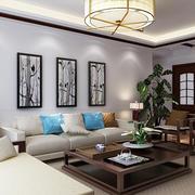 中式客厅装饰画欣赏