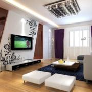 120平米大户型精致两室两厅欧式客厅装修效果图