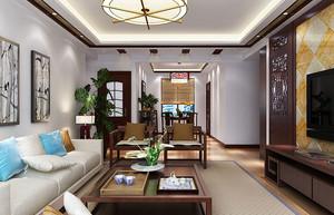 简约中式160平米三居室装修设计效果图