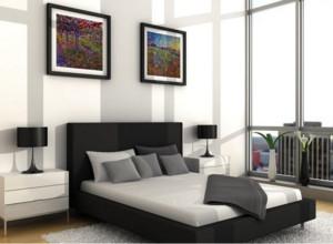 80平米小户型精致的现代简约卧室装修效果图