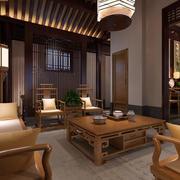 中式客厅实木沙发椅