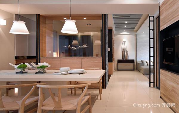 2016自然原木色大户型餐厅家具效果图