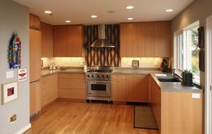 厨房原木橱柜欣赏