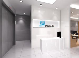 清新彩色中等户型公司背景墙设计效果图