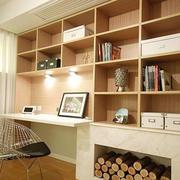书房原木书柜展示