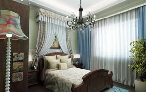 优雅小户型美式田园风格卧室装修效果图