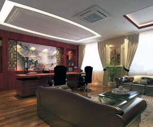 2016现代董事长办公室吊顶装修效果图实例鉴赏