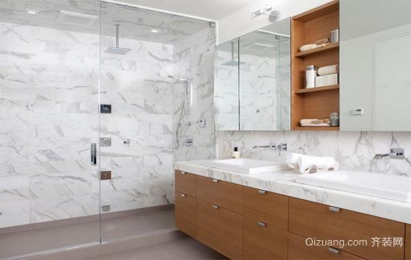 90平米欧式大马可波罗瓷砖卫生间背景墙装修效果图片