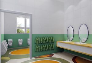 幼儿园清新卫生间装修设计效果图