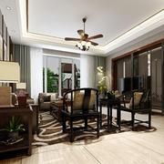 中式客厅精美电视背景墙