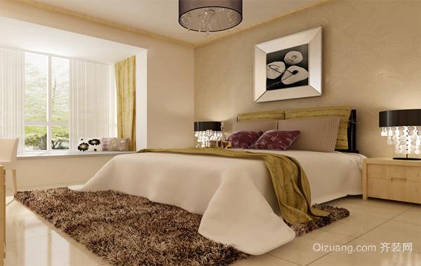 90平米大户型现代家装卧室背景墙装修效果图