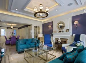 2016大戶型北歐風格現代家裝客廳裝修效果圖