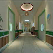 简约大户型幼儿园走廊装修设计效果图