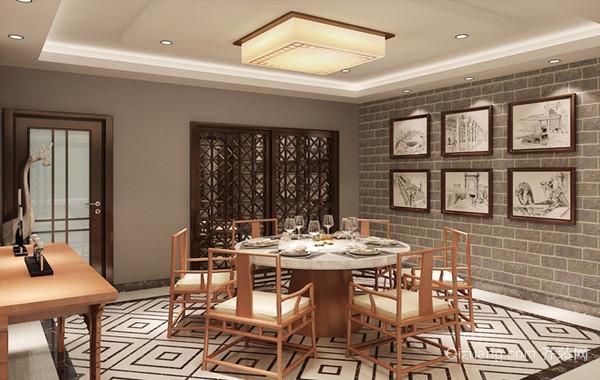 200平米四居室中式装修设计效果图