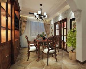2016两室一厅美式田园风格餐厅装修效果图