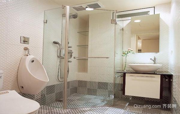 90平米大户型欧式洗手间背景墙设计装修效果图