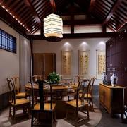 中式实木圆形餐桌