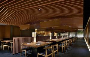 餐厅精美生态木吊顶