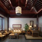 中式大户型书房展示