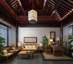 禅意人生:中式大型别墅装修设计效果图