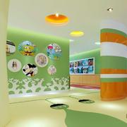 2016清新时尚幼儿园墙面装修设计效果图