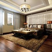 中式大卧室背景墙图片