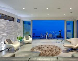 现代100平米时尚公寓客厅装修效果图欣赏