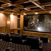 90平米大户型欧式客厅家庭影院装修效果图片