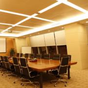 2016现代都市唯美的大会议室背景墙装修效果图